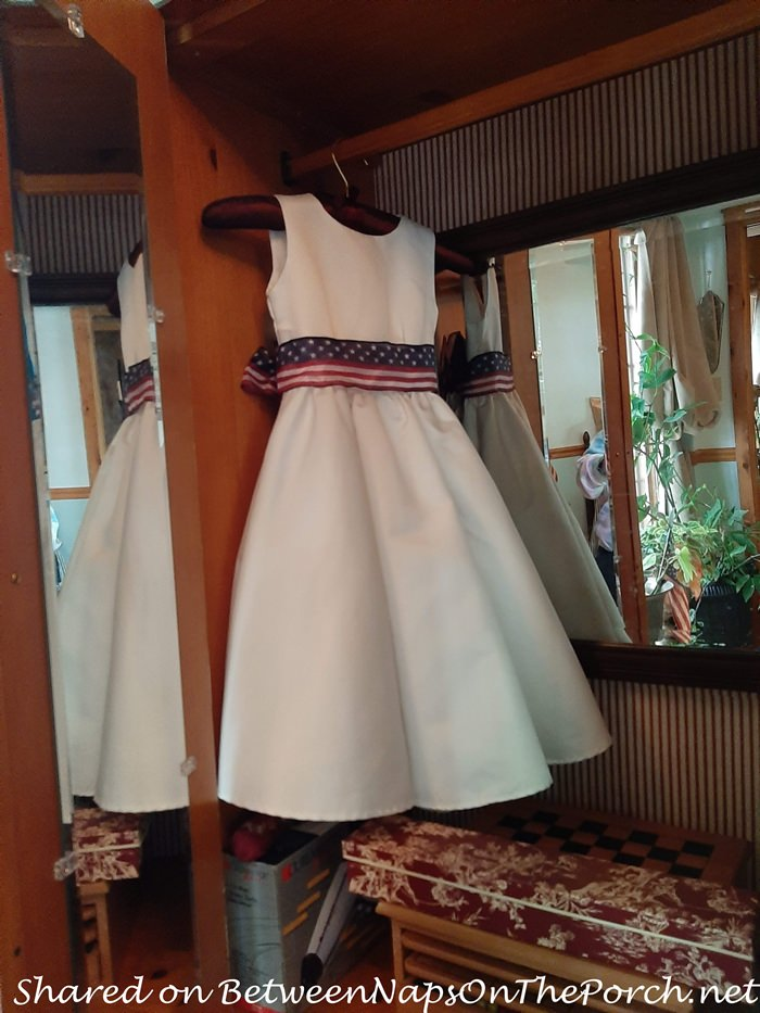 Wallpaper & Add a Mirror to the Interior of Armoire Wardrobe