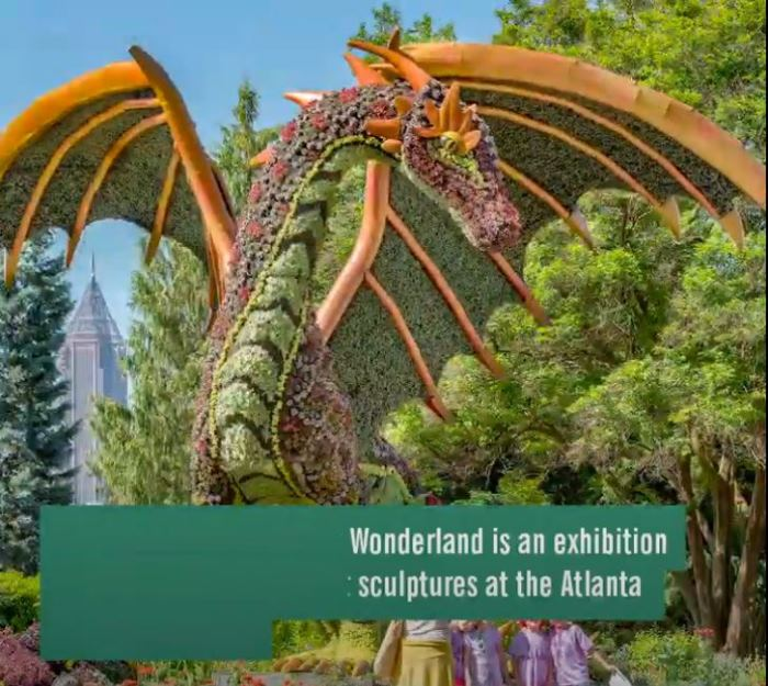 Alice's Wonderland, Dragon, Atlanta Botanical Garden
