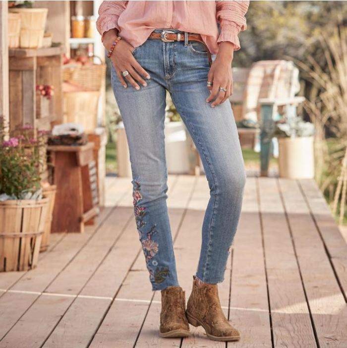 Embroidered Jackie Jeans by Sundance