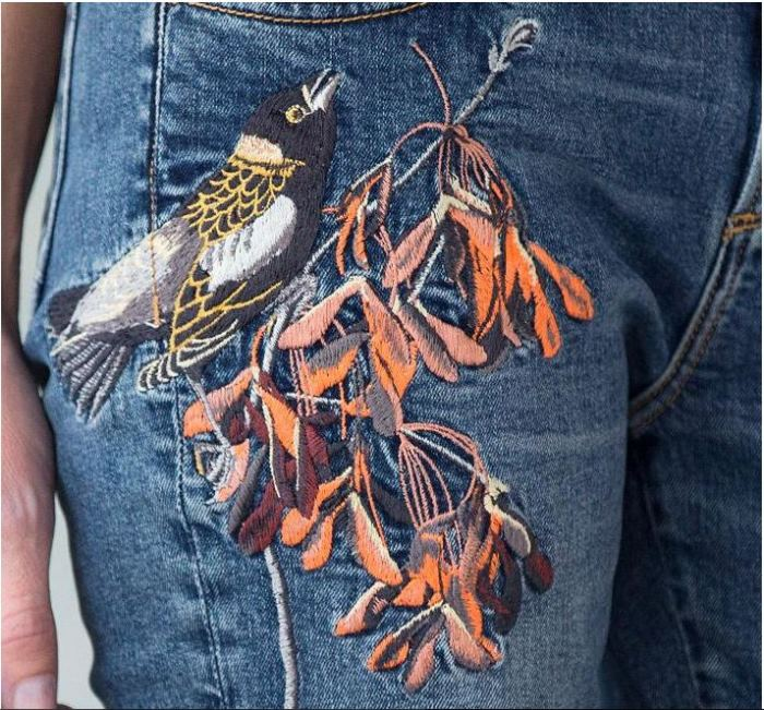 Embroidered Jeans by Sundance