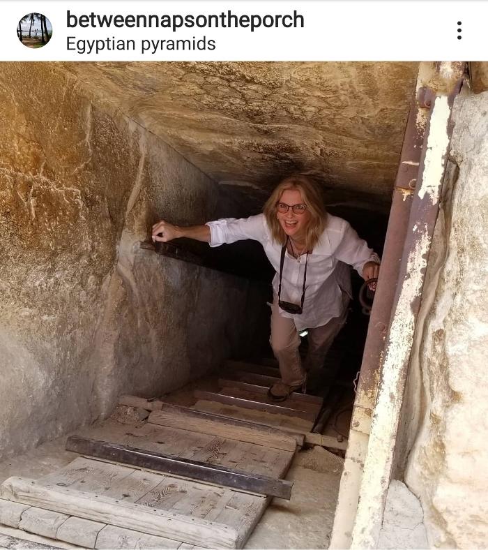 Going Down Inside an Egytian Pyramid