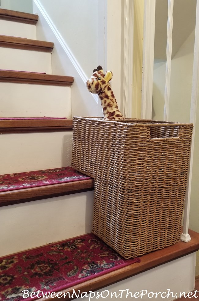 Great Basket for Staircase Steps
