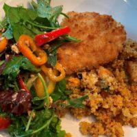 Marinated Chicken Breast with Quinoa Vegetable Melange & Arugula Salad