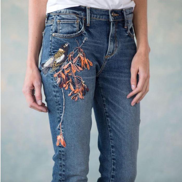 Sundance Embroidered Jeans on Sale