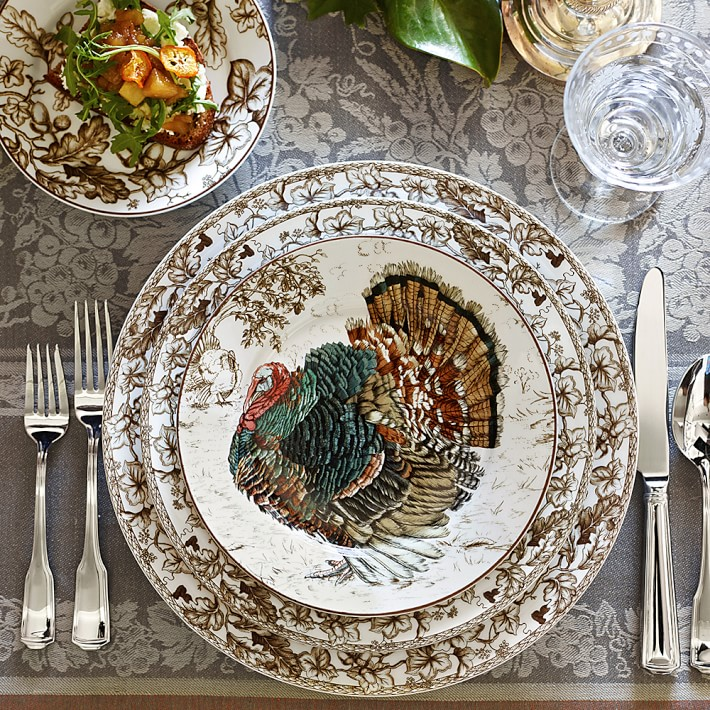 Turkey Dinnerware for Thanksgiving, Plymouth