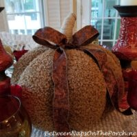 Cozy Pumpkin Centerpiece for Autumn-Fall Table