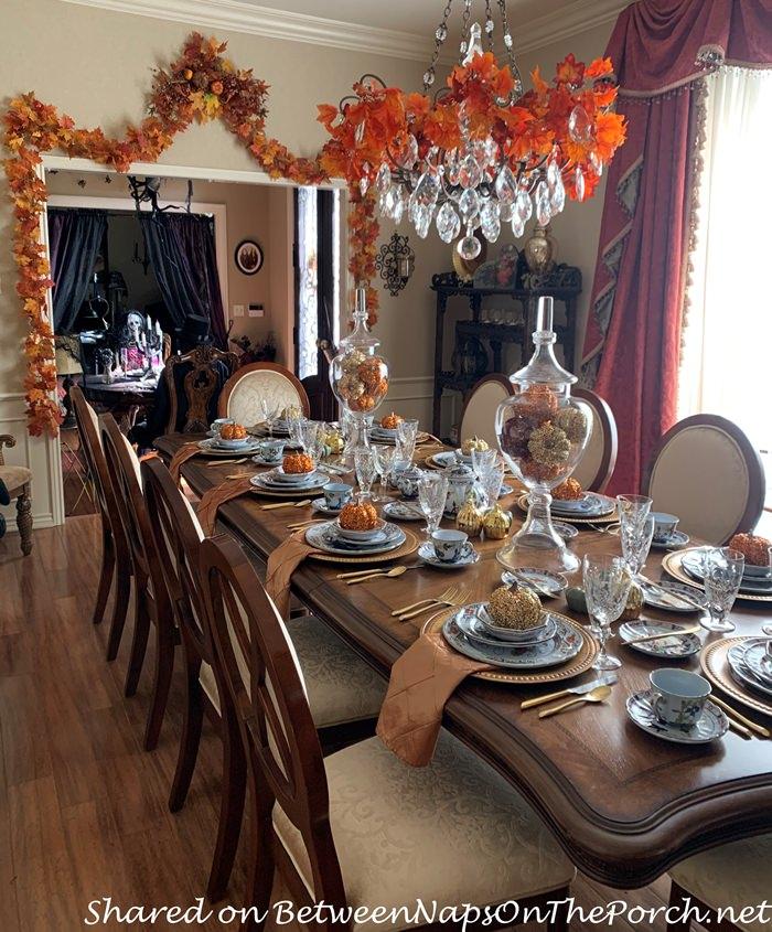 Elegant Halloween Table Setting