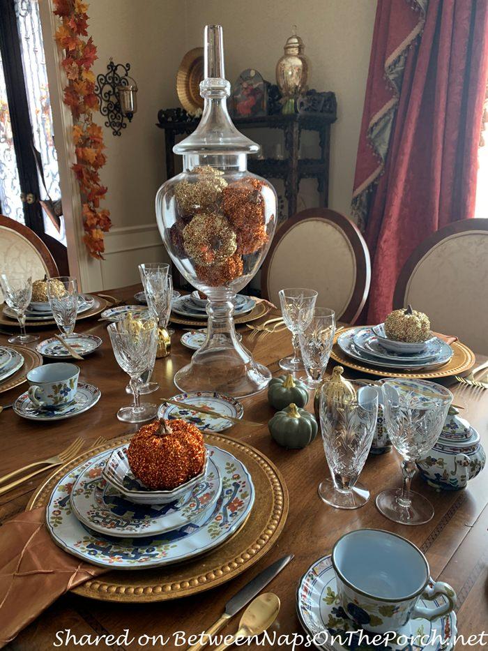 Fall Autumn Tablescape, Fall Table Setting