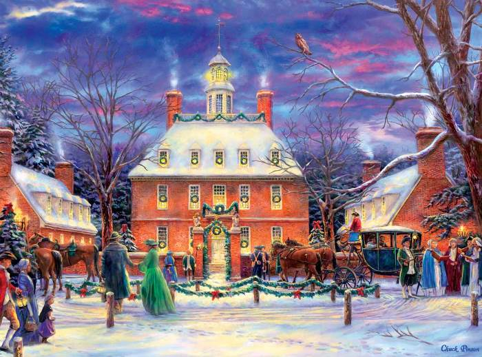 Governor's Palace at Christmastime, Colonial Williamsburg