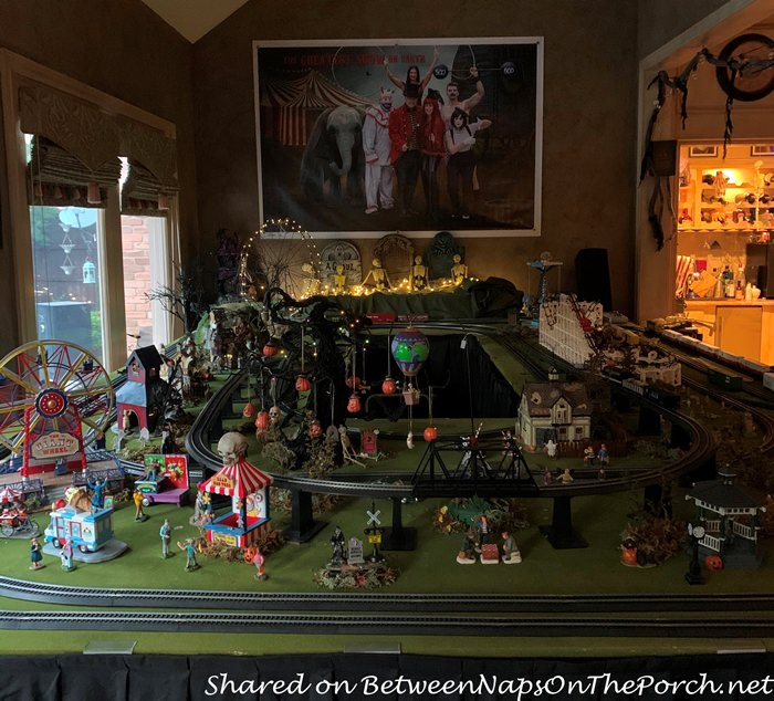 Model Train Village, Halloween Village