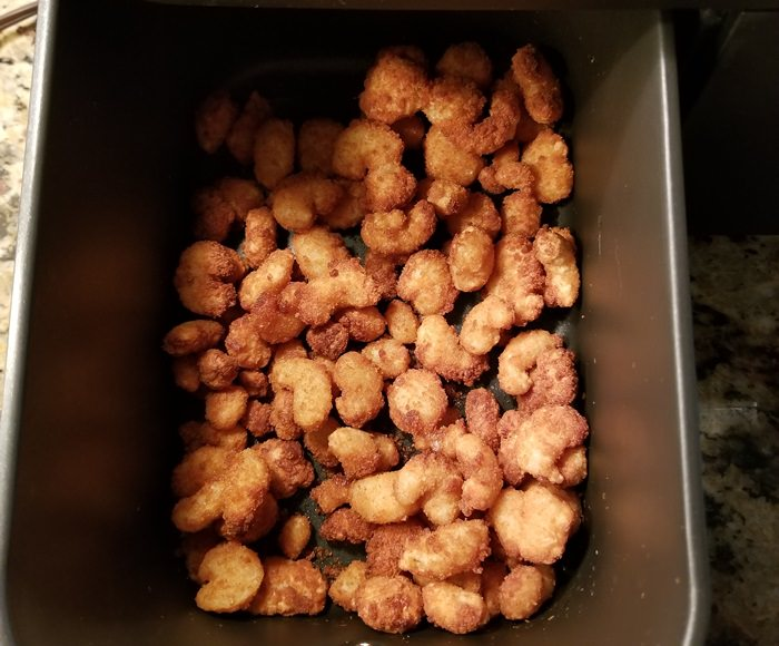 Popcorn Shrimp Cooked in Air Fryer