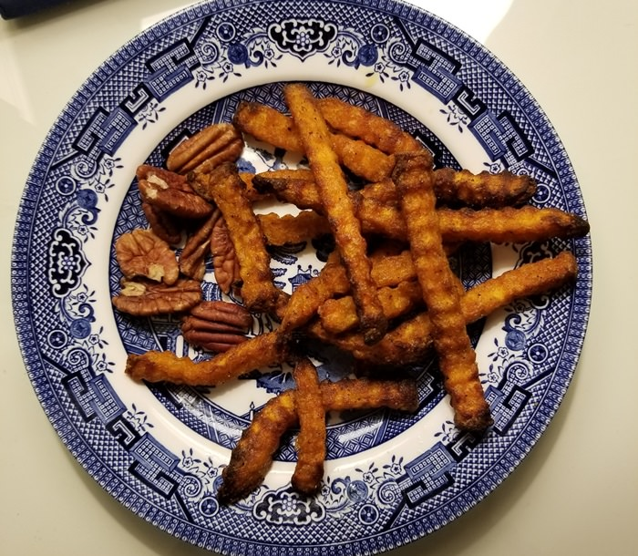 Sweet Potato Fries Cooked in Air Fryer