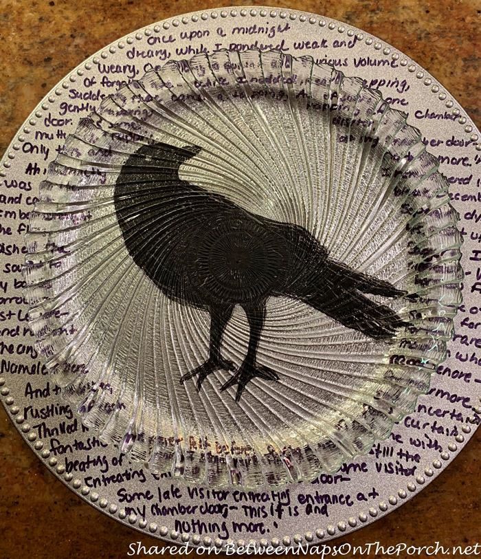 Tabletop Charger Craft, Edgar Allan Poe, The Raven
