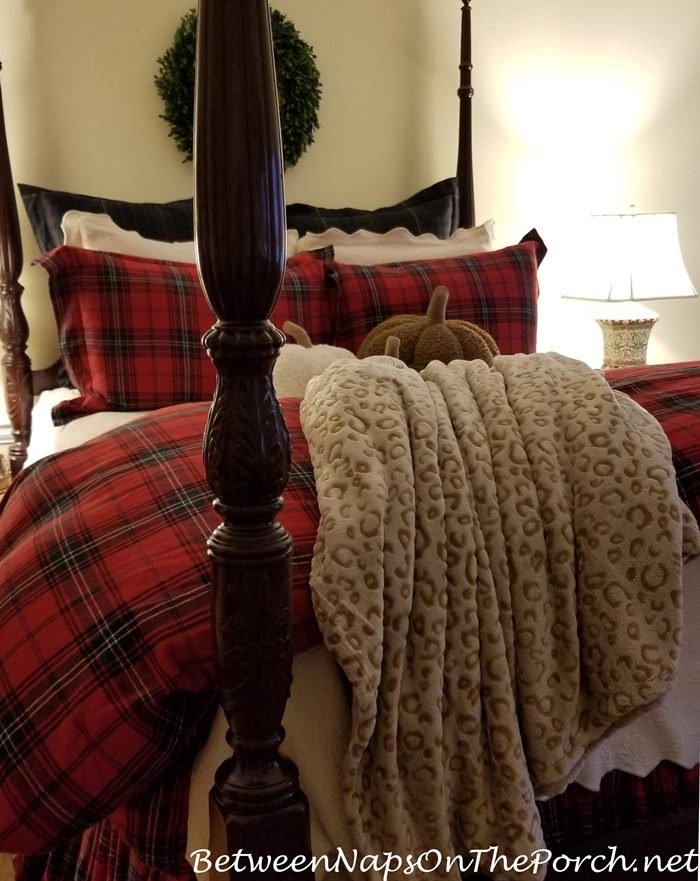 Tartan Bedding, Leopard Throw