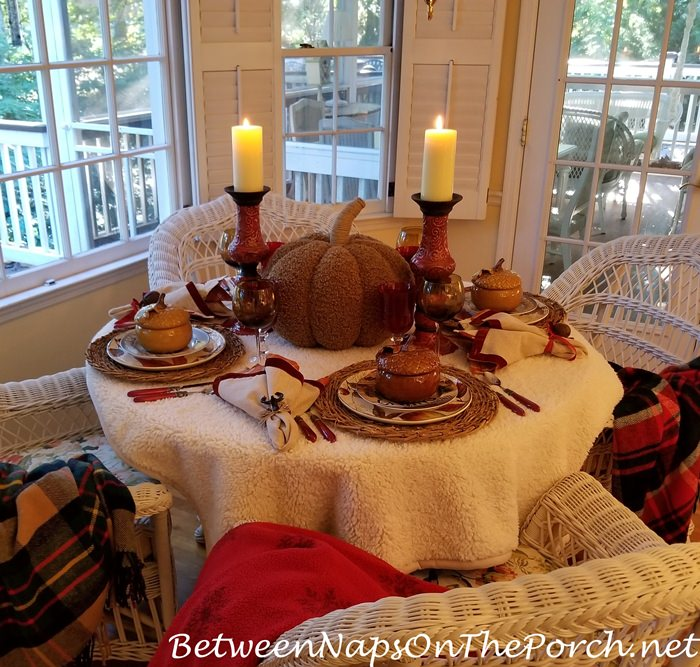 Throw Tablecloth for Autumn Table