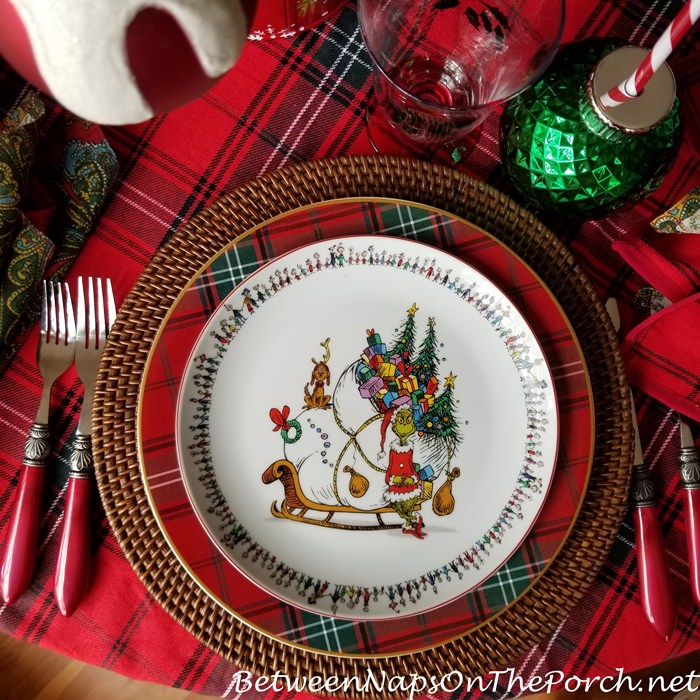 Grinch Christmas Plates, How the Grinch Stole Christmas