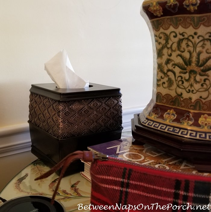 Heavy Tissue Box Cover for Traditional Decor