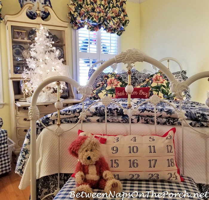 Advent Calendar Pillow in Guest Room