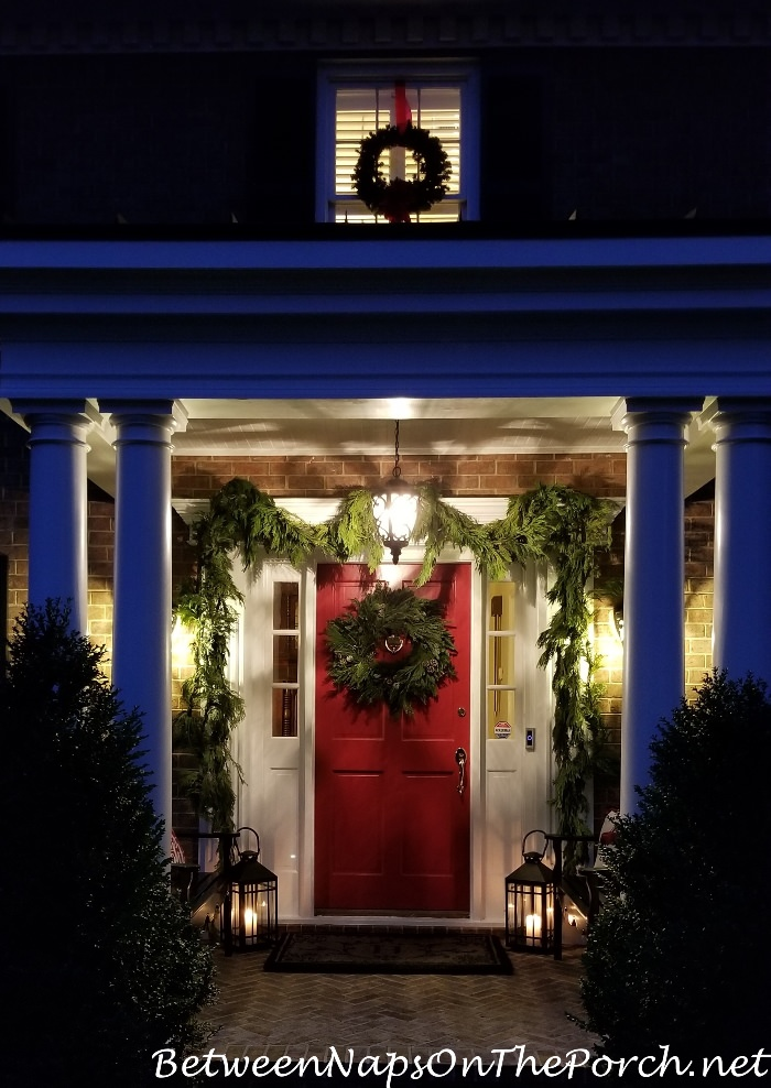 Benjamin Moore Heritage Red Paint, Christmas Porch