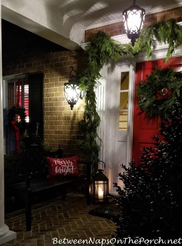Cedar Garland for Christmas Porch
