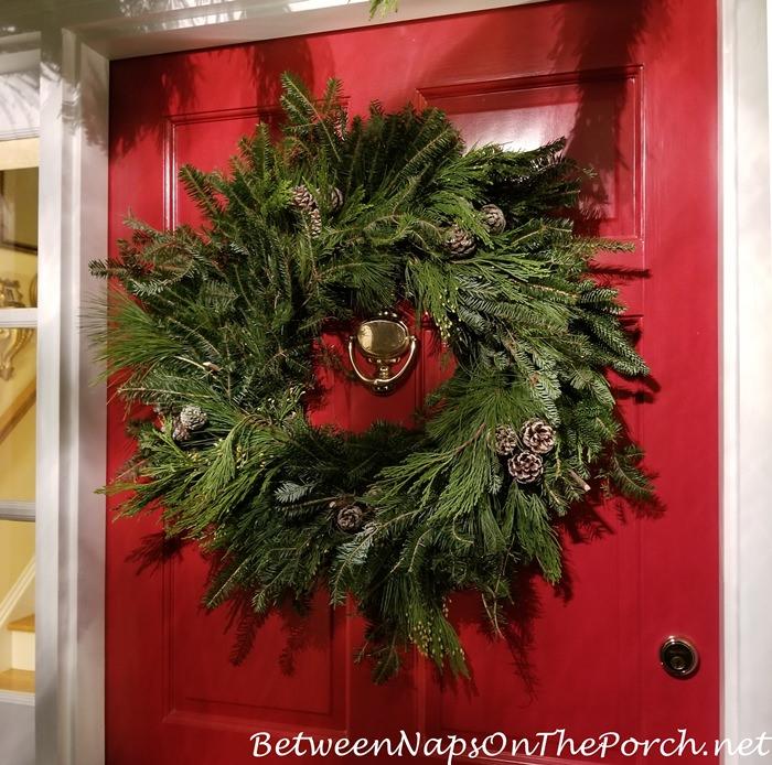 Christmas Frasier Fir Wreath with Pine Cones