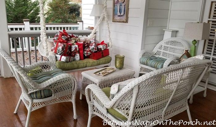 Christmas Porch Swing
