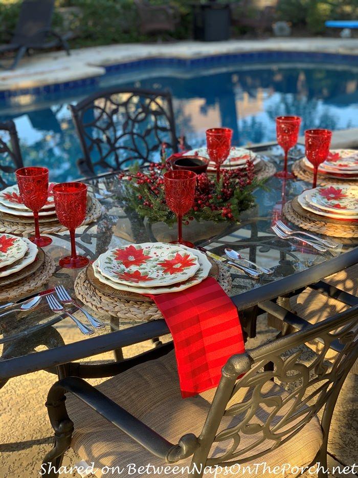 Christmas Table, Poolside