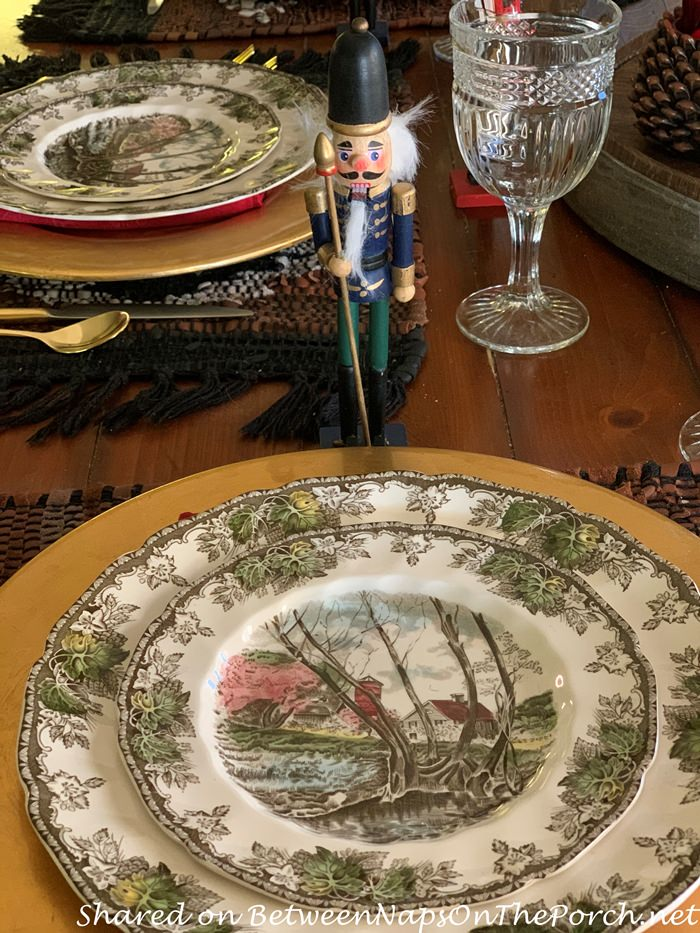 Christmas Table Setting, Johnson Brothers, The Friendly Village China