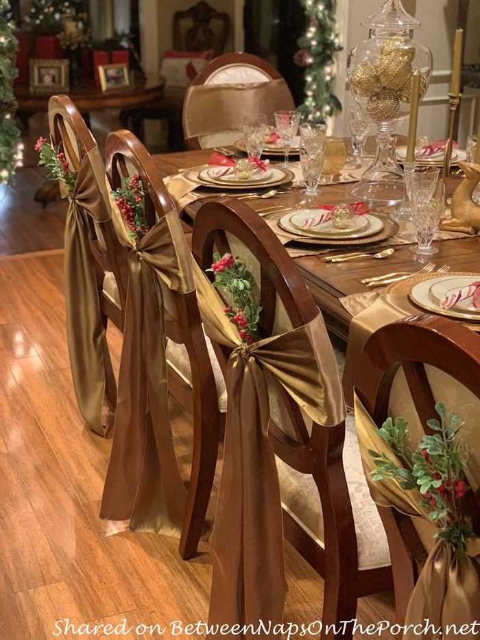 Decorate Dining Chairs for Christmas