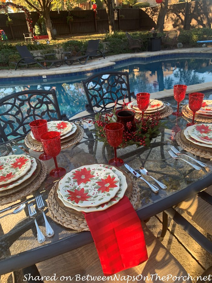 Dining Poolside for Christmas
