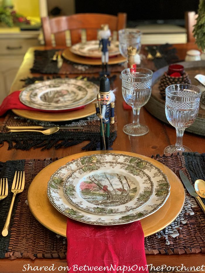 Johnson Brosthers, The Friendly Village, Christmas Table Setting