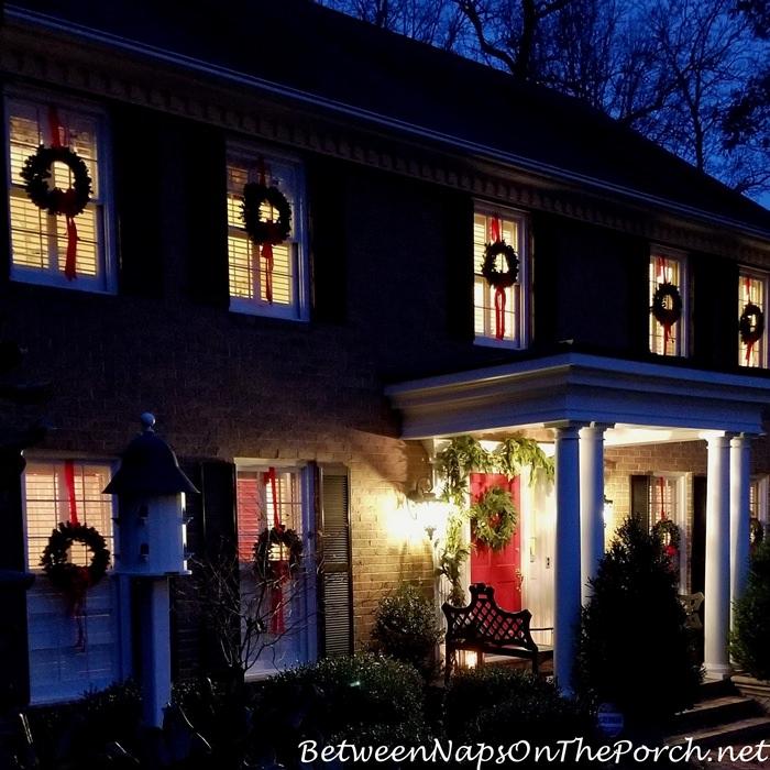 Wreaths on Windows, Christmas Decor