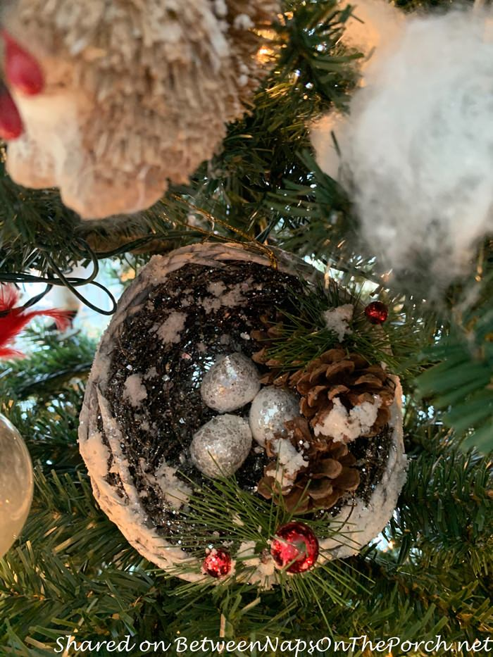 Bird's Nest Ornament for Winter Tree