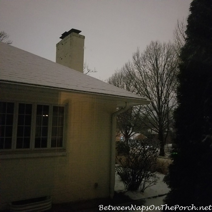 Looks like daytime at night when it snows