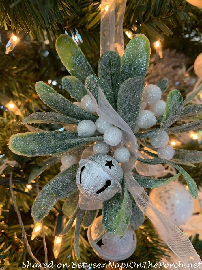 Mistletoe Ornament for a Winter Tree