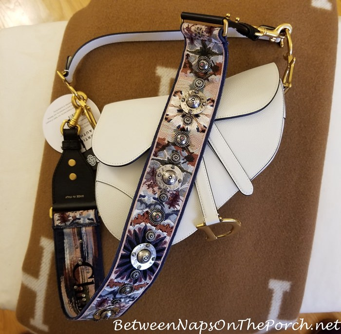 Saddlebag with Christian Dior Kaleidiorscopic Strap