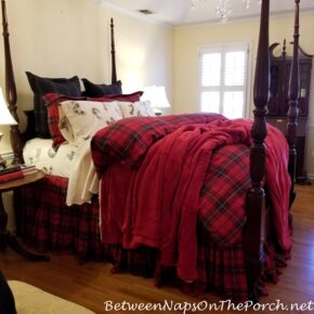 Styling a Bed in Pottery Barn Style