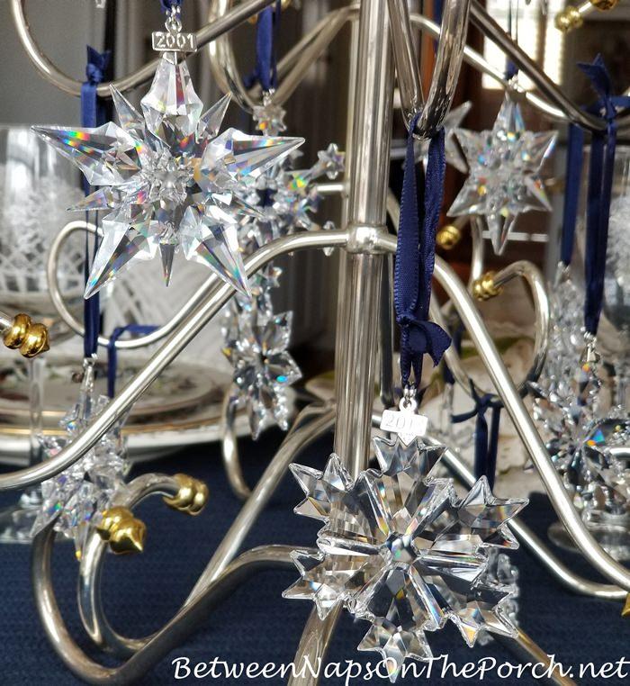 Swarovski Crystal Snowflake and Star Ornament