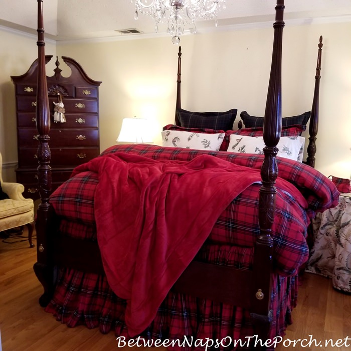 Tartan Bedding, Red Luxury Blanket