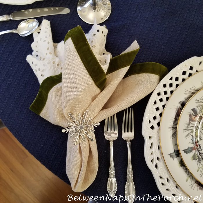 Towle King Richard in Winter Table Setting