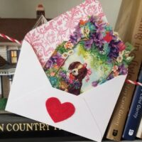 Beautiful Valentine's Day Card, Vintage Style 4
