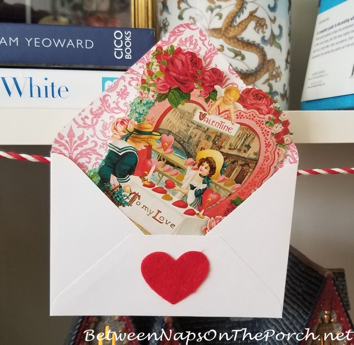 Beautiful Valentine's Day Card, Vintage Style 5