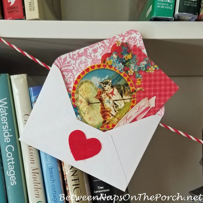 Beautiful Valentine's Day Card, Vintage Style Cards