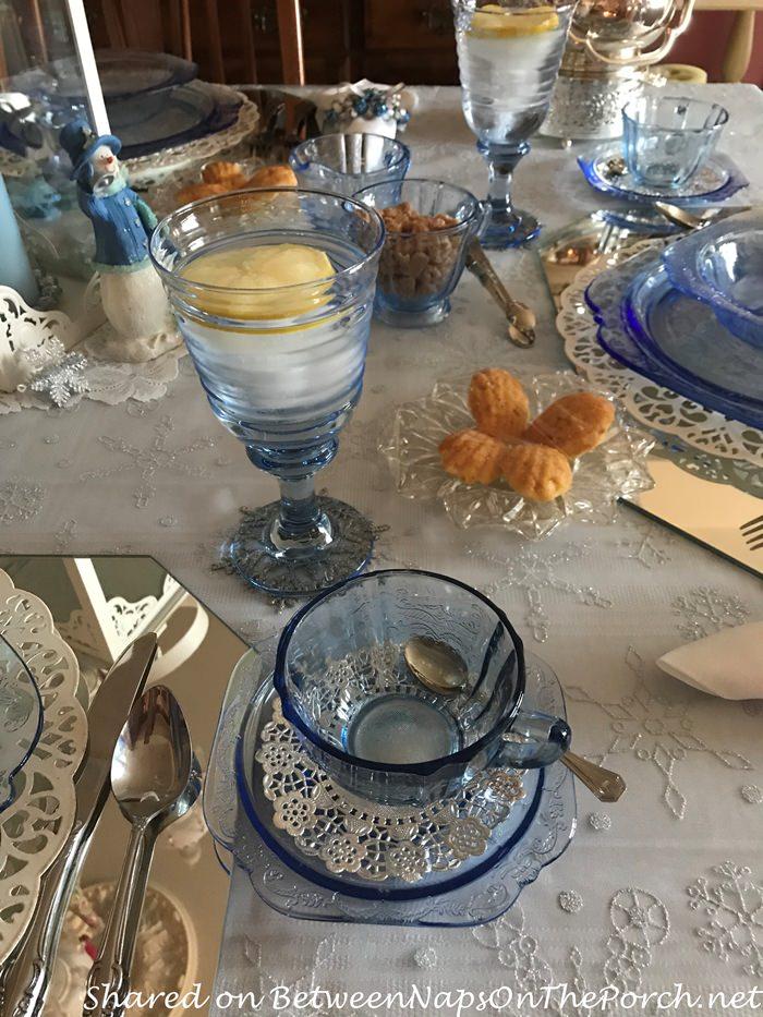 Blue Madrid, Federal Glass Petal Depression Glass
