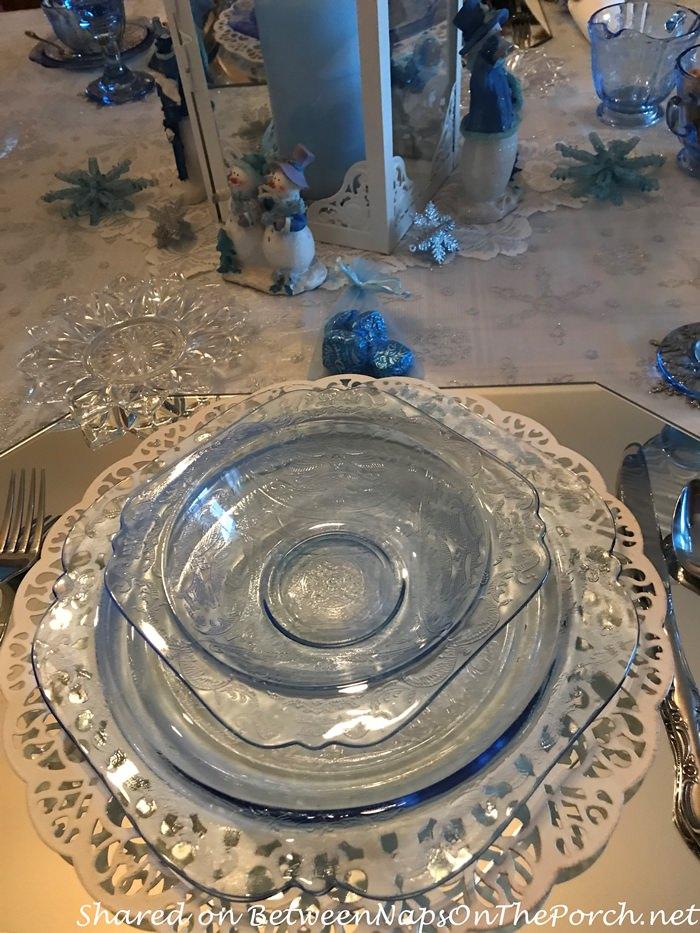Blue Madrid, Federal Glass Petal