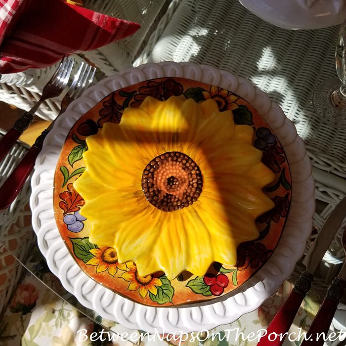 Maxcera Sunflower Plates, Sunflower Themed Table Setting