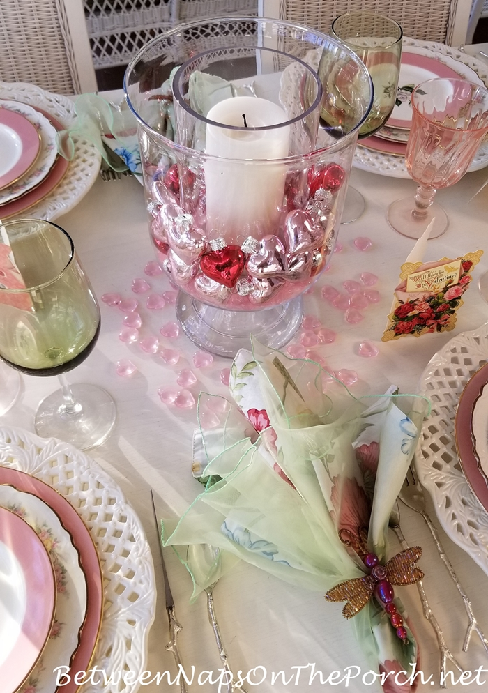Pink Dragonfly Napkin Rings