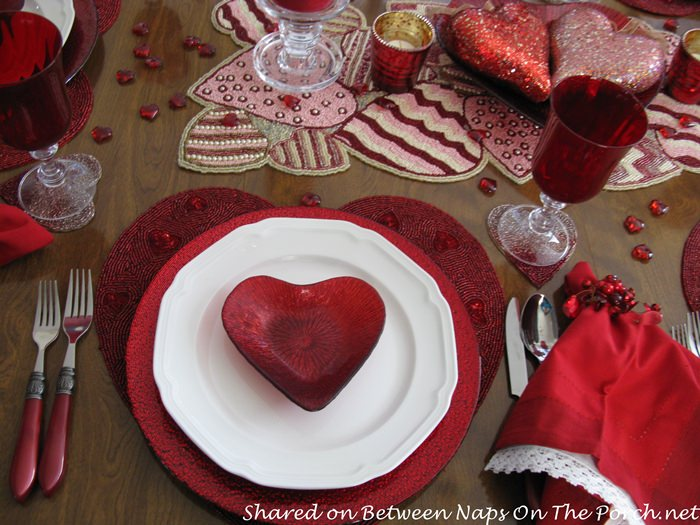 Red Heart Bowl and Red Chargers, Valentine's Day