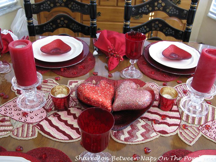 Red Mikasa Wine Stemware for Valentines Day
