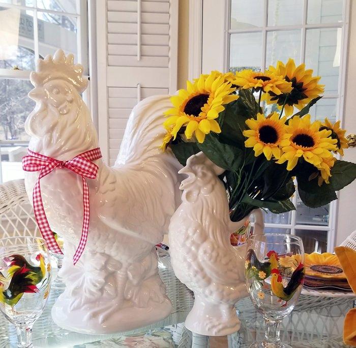 Rooster Sunflower Centerpiece